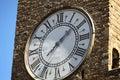 Piazza della signoria in florence pallazo vecchio clock Royalty Free Stock Photos