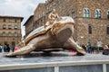 Piazza della Signoria with Palazzo Vecchio in Florence Royalty Free Stock Photo