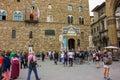 Piazza della Signoria with Palazzo Vecchio in Florence, Tuscany, Italy Royalty Free Stock Photo