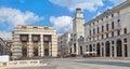 Piazza della Vittoria in Brescia Royalty Free Stock Photo