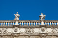 Piazza delle Erbe and Statues in Verona Royalty Free Stock Photography