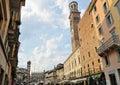 Piazza delle Erbe, Verona, Italy, Europe Stock Image