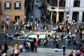 The Piazza di Spagna is one of the most popular meeting places in Rome. Royalty Free Stock Photo