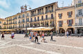 Piazza Duomo in the historic center of Como, Italy