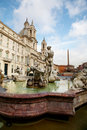 Piazza Navona Fountain Royalty Free Stock Photography
