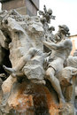Piazza Navona Fountain, Rome Stock Photography