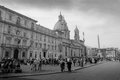 Piazza navona in rome italy Royalty Free Stock Images