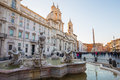 Piazza Navona in Rome, Italy. Royalty Free Stock Photo