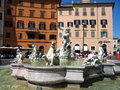Piazza navona rome italy is a city square in it is built on the site of the stadium of domitian built in st century ad and follows Royalty Free Stock Image
