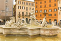 Piazza navona rome italy neptune fountain of the is one of most famous squares in and around the world by its beautiful Stock Photography