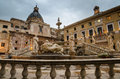 Piazza pretoria in palermo sicily italy early morning Royalty Free Stock Photos