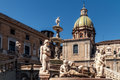 Piazza pretoria piazza della vergogna cityscape picture of the in palermo Stock Photography
