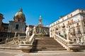 Piazza pretoria or piazza della vergogna palermo sicily italy Royalty Free Stock Image