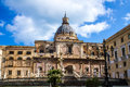 Piazza pretoria the square of shame in palermo italy also known as with fountain and church st catherine Stock Images