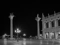 Piazza san marco at night venice italy Stock Images