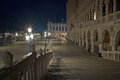 Piazza san marco at night venice italy Royalty Free Stock Images