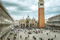 Piazza San Marco, or St Mark`s Square, in Venice, Italy Royalty Free Stock Photo