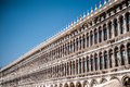 Piazza san marco in venice details of the facade of the traditional building at italy Stock Photos