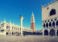 Piazza san marko in early morning venice italy europa Stock Photos