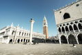 Piazza san marko in early morning venice italy europa Royalty Free Stock Image