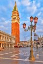 Piazza san marko venice campanile on Royalty Free Stock Image