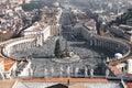 Piazza San Pietro, Rome Royalty Free Stock Photo