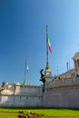 Piazza venezia is one of the symbols of rome every year national day will take place in the military parade on june Royalty Free Stock Photos