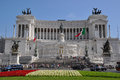 Piazza venezia rome italy is a major circus and the central hub of built by palazzo Royalty Free Stock Photo