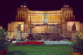 Piazza Venezia in Rome on the night before Christmas Royalty Free Stock Photo