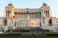 Piazza Venezia and Vittoriano Emanuele Monument Royalty Free Stock Photo