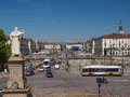 Piazza vittorio turin italy june the emanuele ii square in italy Royalty Free Stock Photo