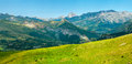 Pic du midi panorama in france the french pyrenees Royalty Free Stock Photography