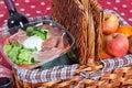 Pic-nic basket Stock Image