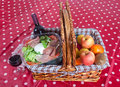 Pic-nic basket Royalty Free Stock Images