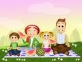 Pic nic family Royalty Free Stock Photo