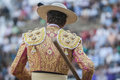 Picador bullfighter lancer whose job it is to weaken bull s jaen spain september neck muscles in the bullring for jaen spain Royalty Free Stock Photos