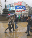 Piccadilly Circus crowd Stock Photography