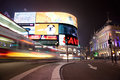 Piccadilly Circus in London. Royalty Free Stock Photos