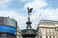 Piccadilly circus and statue of eros london fountain in s famous neon advertising billboards ripley s believe it or not mueum Royalty Free Stock Photo