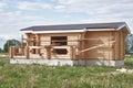 Piccola casa suburbana in costruzione Immagine Stock