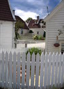 Picket fence - bergen, norway Royalty Free Stock Photo