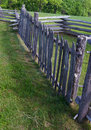 Picket or paling rail fence blue ridge parkway virginia usa floyd county may a display at groundhog mountain picnic area on the on Stock Images