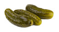 Pickled cucumbers on a white background Stock Photography