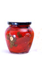 Pickled paprika pic of jars Stock Photos