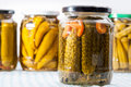 Pickles jars Royalty Free Stock Photo