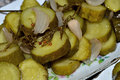 Pickles photo salad of chopped Royalty Free Stock Photos