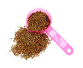 Pickling Spice Spilling Pink Cup Royalty Free Stock Image