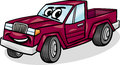 Pickup car character cartoon illustration of funny pick up or vehicle comic mascot Stock Photos