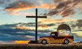 Pickup Cross Globe Royalty Free Stock Photo