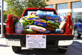 Pickup full of dog food Stock Images